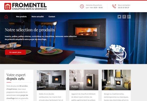 Nouvelle page d'accueil du site Fromentel 2016