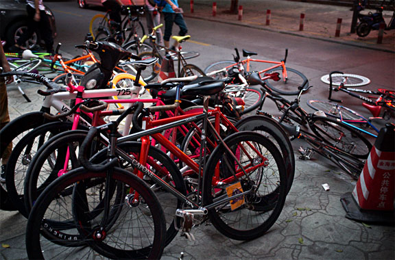 Bikes at the finishline