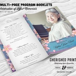 Cherry Blossoms Multi-page Program Booklet