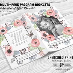 Anemones-Butterfly-Multipage-program-booklet-Cover