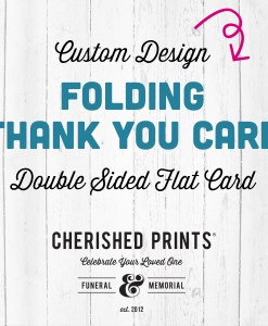 Custom Folding Celebration of Life Thank You Cards - Double Design for Funerals and Memorials