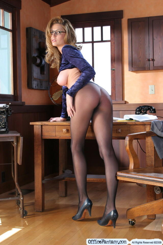 secretary skirt high heels
