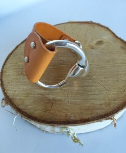 Equestrian Style Half Cuff Saddle Leather Bracelet