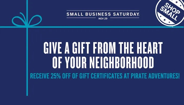 Small Business Saturday Discount