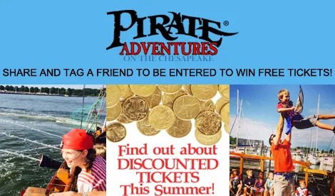 Enter To Win Free Tickets at Pirate Adventures