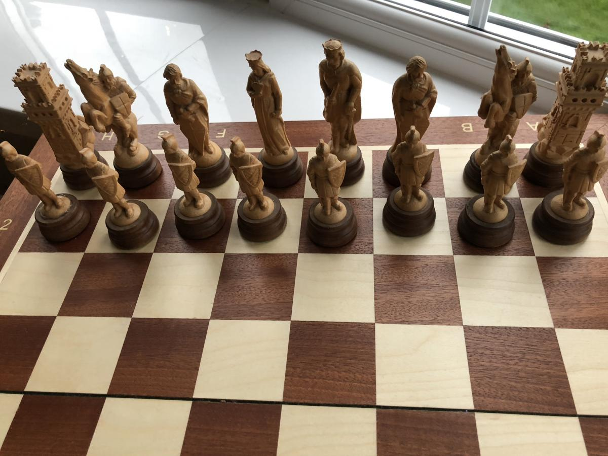 Luxurious Medieval Wooden Army Chess Set 2 Medieval Chess Sets Boards Medieval Chess Set Ebay houzz-03 Medieval Chess Set