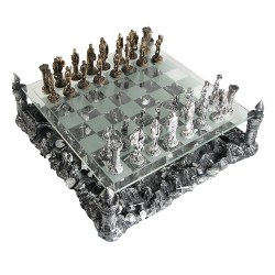 Mind Pewter Glass Medieval Knights Chess Set Medieval Chess Set Nz Duncan Medieval Chess Set