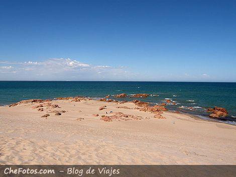 Panorámica de una playa patagónica