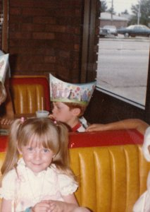 Celebrating my 3rd birthday at the Golden Arches. Clearly I'm lovin' it.