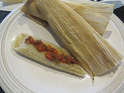 Pain-less Bay-less Tamales (The Best Easy Chicken Chili Tamales)-gluten free