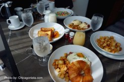 Room Service Breakfast at Loews Chicago