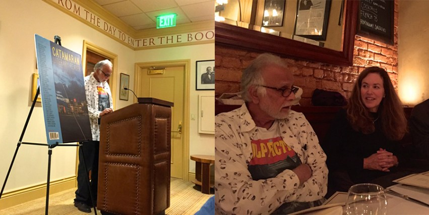 CQR editor Syed Haider reads at the Book Club of California. He was joined by CQR editor Elizabeth McKenzie.