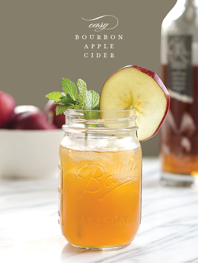 Easy Bourbon Apple Cider. The perfect cocktail for fall and winter ...
