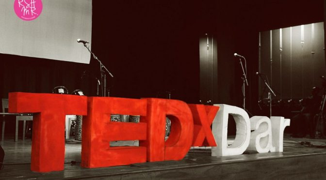 TEDxDar Logo on Stage 2011