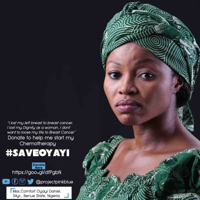 Breast cancer has taken my left breast, I don't want it to my life – Ms. Comfort Oyayi Daniel…#SaveOyayi: Donate here https://goo.gl/dfPgbN