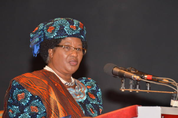 Aisha Muhammed-Oyebode hosts Dr. Joyce Banda, former President of Malawi at the 2016 edition of the Women's Power Lunch on Thursday, July 28, 2016, in Lagos, Nigeria