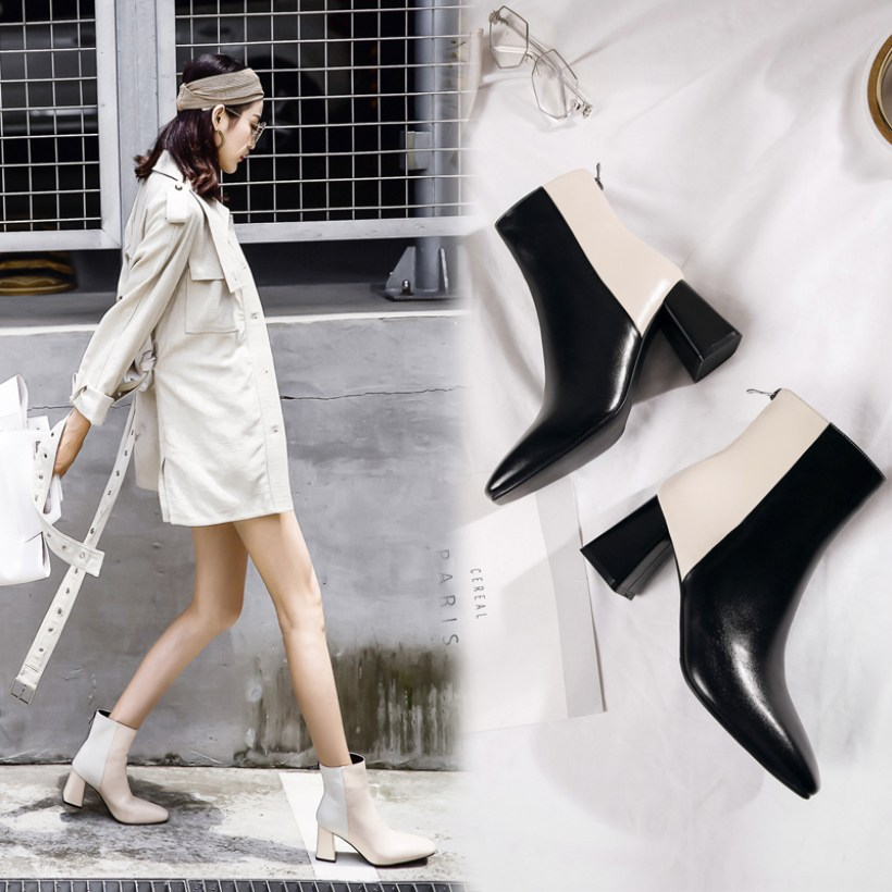 CHIKO COLTIN TWO TONE ANKLE BOOTS