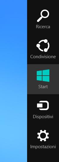 Barra laterale Windows 8