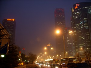 Beijing Pollution China-Beijing-Evening