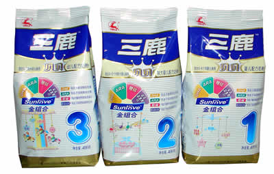 Sanlu brand milk powder.