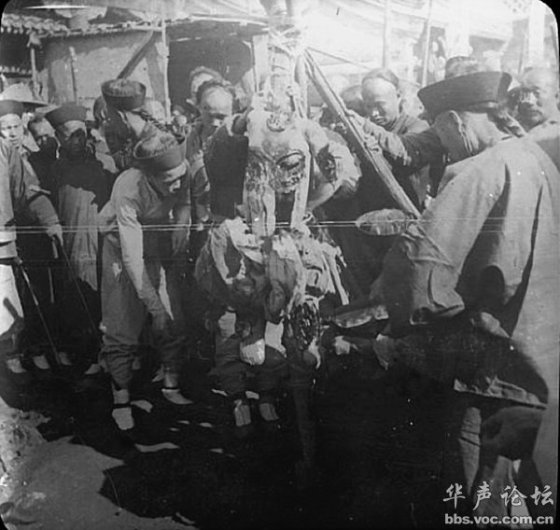 Death by a thousand cuts punishment during the late Qing period in China