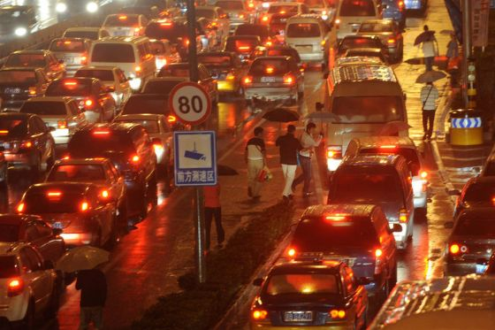 Traffic Jams In Beijing Reach New Records Of Congestion