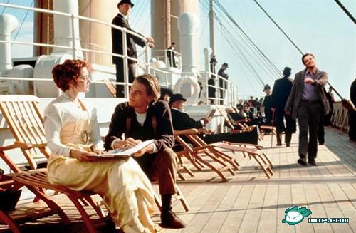 "Leo DiCaprio ""strutting"" photoshop: Titanic."