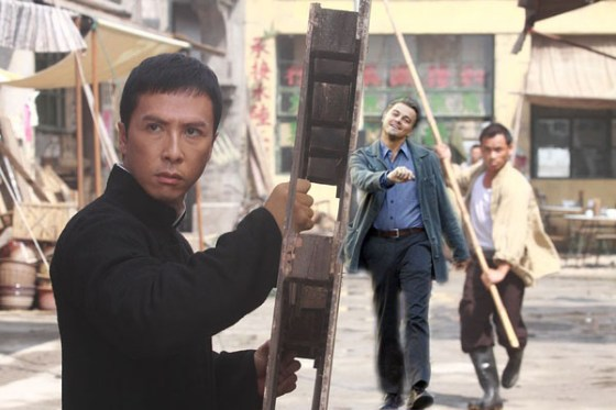 "Inception Leonardo DiCaprio ""strutting"" photoshop: Ip Man."