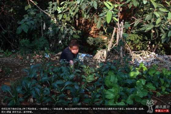 A-Long in rural China. He is an AIDS orphan.