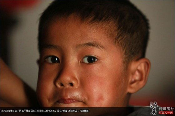 AIDS orphan in China: A-Long.