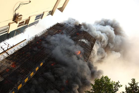 Shanghai Jing An District Jiaozhou Road Apartment Fire Photos