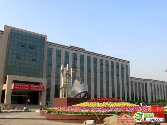 A Chinese government building in Shuozhou city of Shanxi, China.