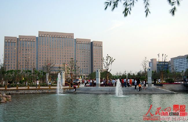 Xinxiang China  city photo : Chinese government building in Xinxiang city of Henan, China.