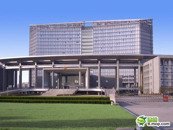 A Chinese government building in Nantong city of Jiangsu, China.