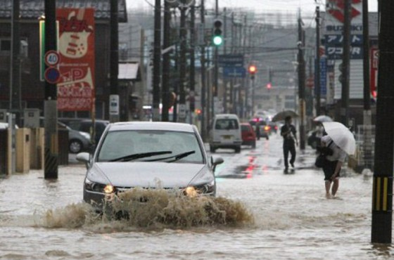 Flooding in Niigata and Fukushima prefectures in Japan.