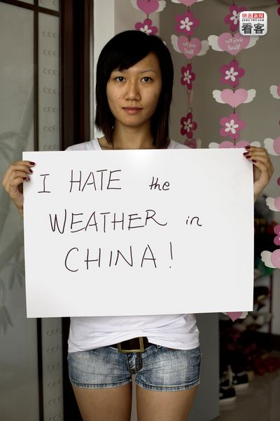 Jhoana Pan. Adrian Fisk's ISPEAK CHINA photo series featuring young Chinese sharing their thoughts on camera.