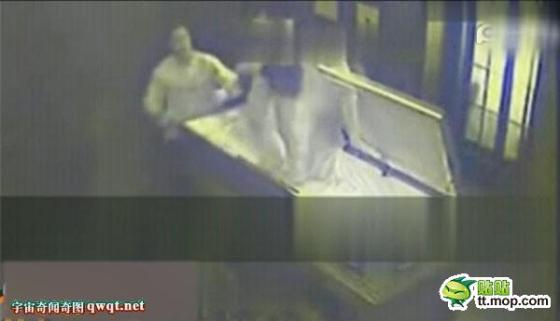 Couple caught making love in a coffin.