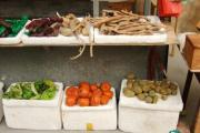 A miniature vegetable stall.