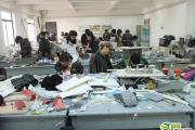 Chinese art students in a workshop creating incredibly realistic miniature scale models.