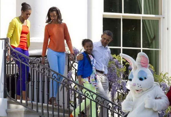 Obama is joining Easter Egg Roll together with his family.