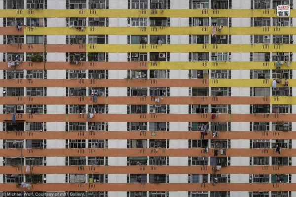 Hong Kong's high density residential buildings, photographed by Michael Wolf in 'Architecture of Density'.