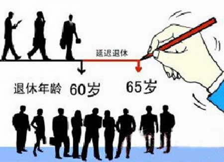 Extending the retirement age from 60 to 65 in China.