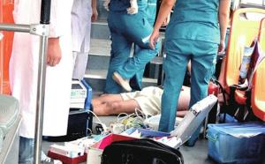 An elderly man lay dead on a public bus in China after an argment with a youth over giving up a seat for the elderly.