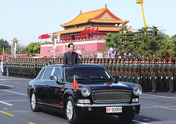 china-president-hu-jintao-inspects-soldiers-military-parade-car
