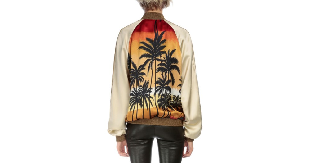 Saint Laurent Palm Tree Bomber Jacket