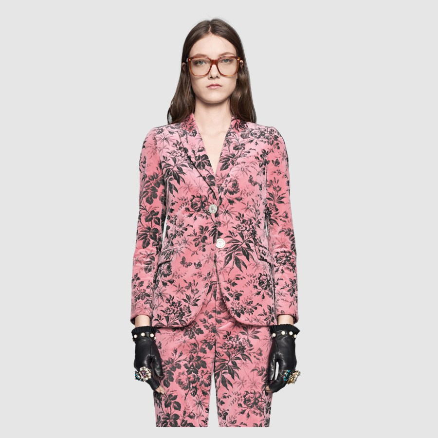Gucci Herbarium Velvet Suit