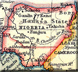 An old Map of Nigeria