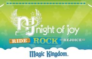 Disney's Night of Joy 2015: Entertainment Schedule at Walt Disney World Resort