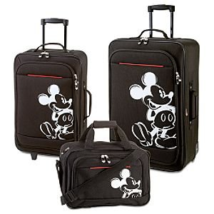 Disney-Rolling-Mickey-Mouse-Luggage-Set-Black-3-Pc