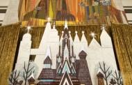 Decorative Holiday displays adorn the lobbies of select Walt Disney World Resort hotels